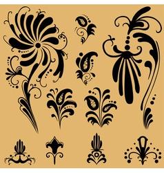 pattern elements for design vector image vector image