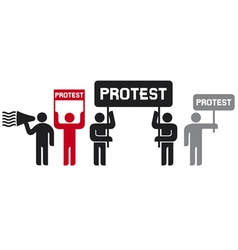 people protesting icons vector image