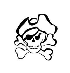 simbol of pirate vector image
