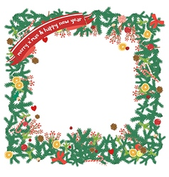 Top view christmas decoration copyspace vector
