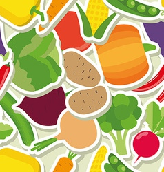 Vegetable seamless pattern the image of vegetables vector