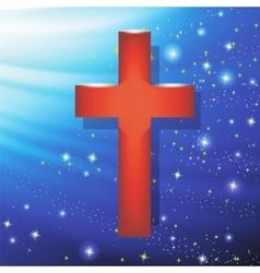 Wood Cross Symbol of Religion vector image