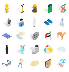 active life position icons set isometric style vector image