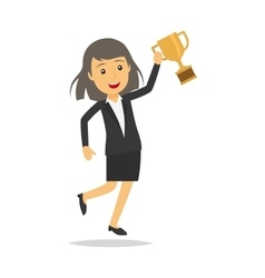 Businesswoman with top honour character vector image vector image