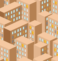 City seamless pattern city panorama background vector image