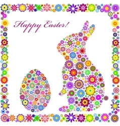 colorful easter card on white background vector image vector image