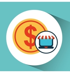 E-commerce concept currency money icon vector