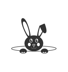 easter bunny icon vector image vector image