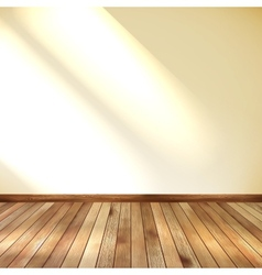 Empty room with wall and wooden floor EPS 10 vector image vector image