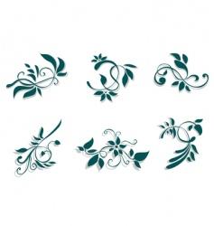flourish decorations vector image vector image