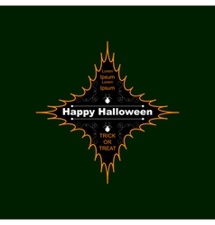 Halloween logo four-pointed star vector image vector image