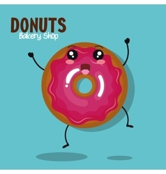 icon donut icing pink graphic vector image vector image