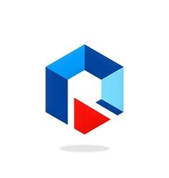 polygon business logo vector image vector image