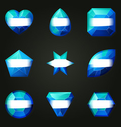 set of gemstones for game vector image