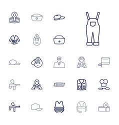 22 uniform icons vector