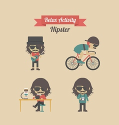 225hipster activity vector