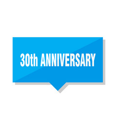 30th anniversary price tag vector image