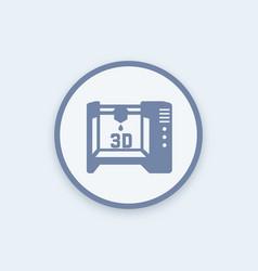 3d printer icon sign vector