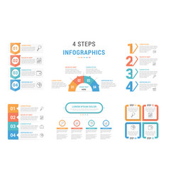 4 steps - infographic templates vector image
