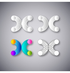 Abstract Combination of Letter X vector