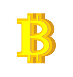 b letter bitcoin font cryptocurrency alphabet vector image