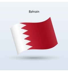 Bahrain flag waving form vector