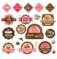 Baked goods design elements 1 vector