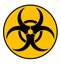 biohazard caution sign symbol of hazard caused by vector image