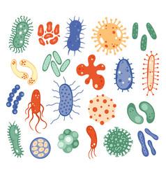 biology microorganisms biological virus bacteria vector image