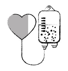 Blood bag donation isolated icon vector
