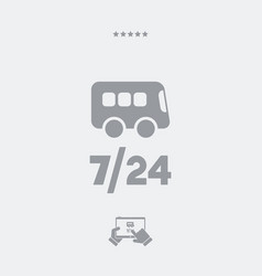 Bus service 724 - web icon vector