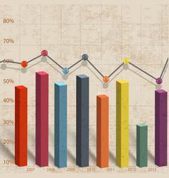 business bar diagram vector image
