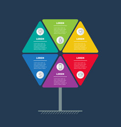 business presentation concept with 6 options vector image