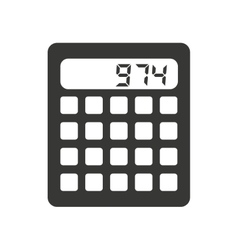 calculator isolated icon design vector image