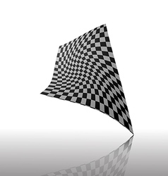 Checkered flag isolated on white baackground vector image