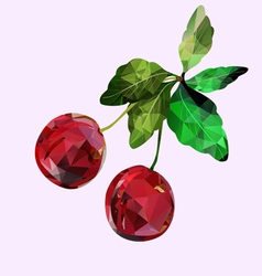 cherry Polygonal vector image