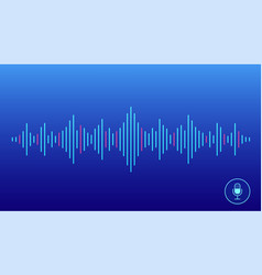 concept of voice recognition vector image