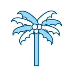 cute blue beach palm cartoon vector image