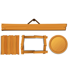 Different templates for wooden board vector
