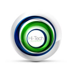 Digital techno sphere web banner button or icon vector