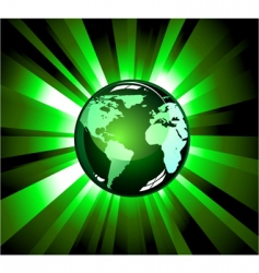earth light explosions vector image