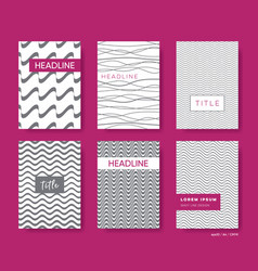 Elegant abstract wavy line brochures cover vector
