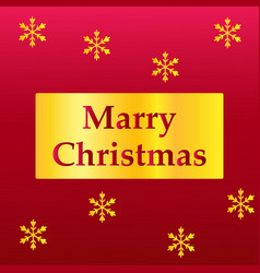 elegant merry christmas lettering design with vector image