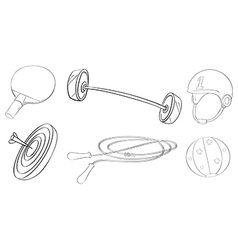 Exercise and game equipments vector