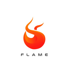 fire flame icon logo design template vector image