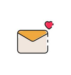 flat color envelope icon vector image