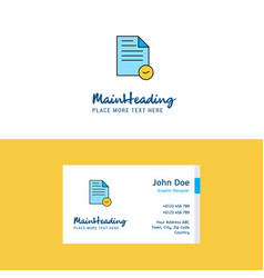 flat document logo and visiting card template vector image