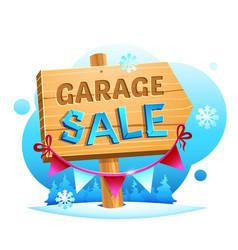 Garage sale wooden pointer vector