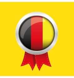Germany badge with red ribbon vector image
