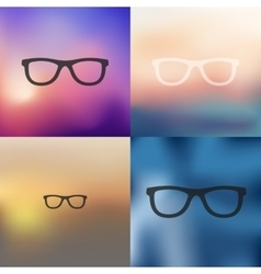 Glasses icon on blurred background vector